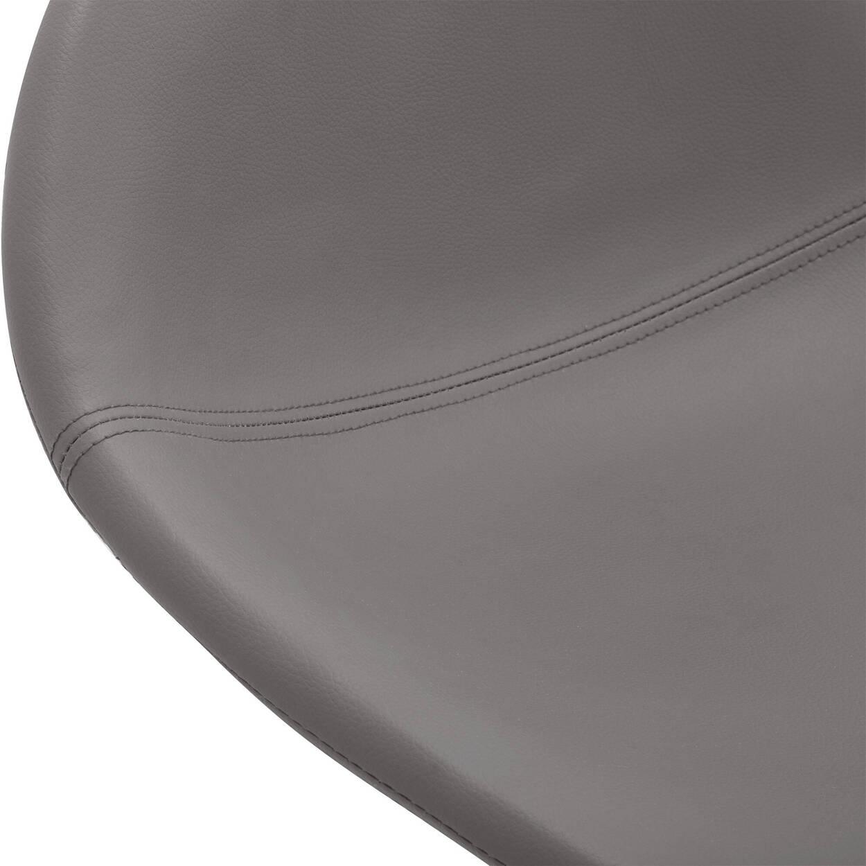 Faux Leather & Metal Adjustable Bar Stool