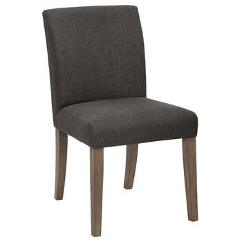 Fabric and Rubberwood Dining Chair with separated seat and back