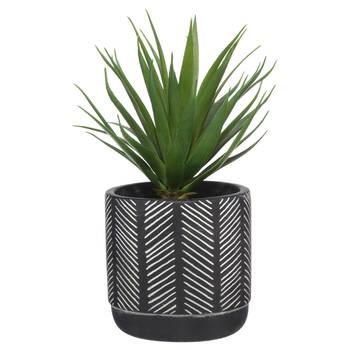 Artificial Plant in Aztec Printed Pot