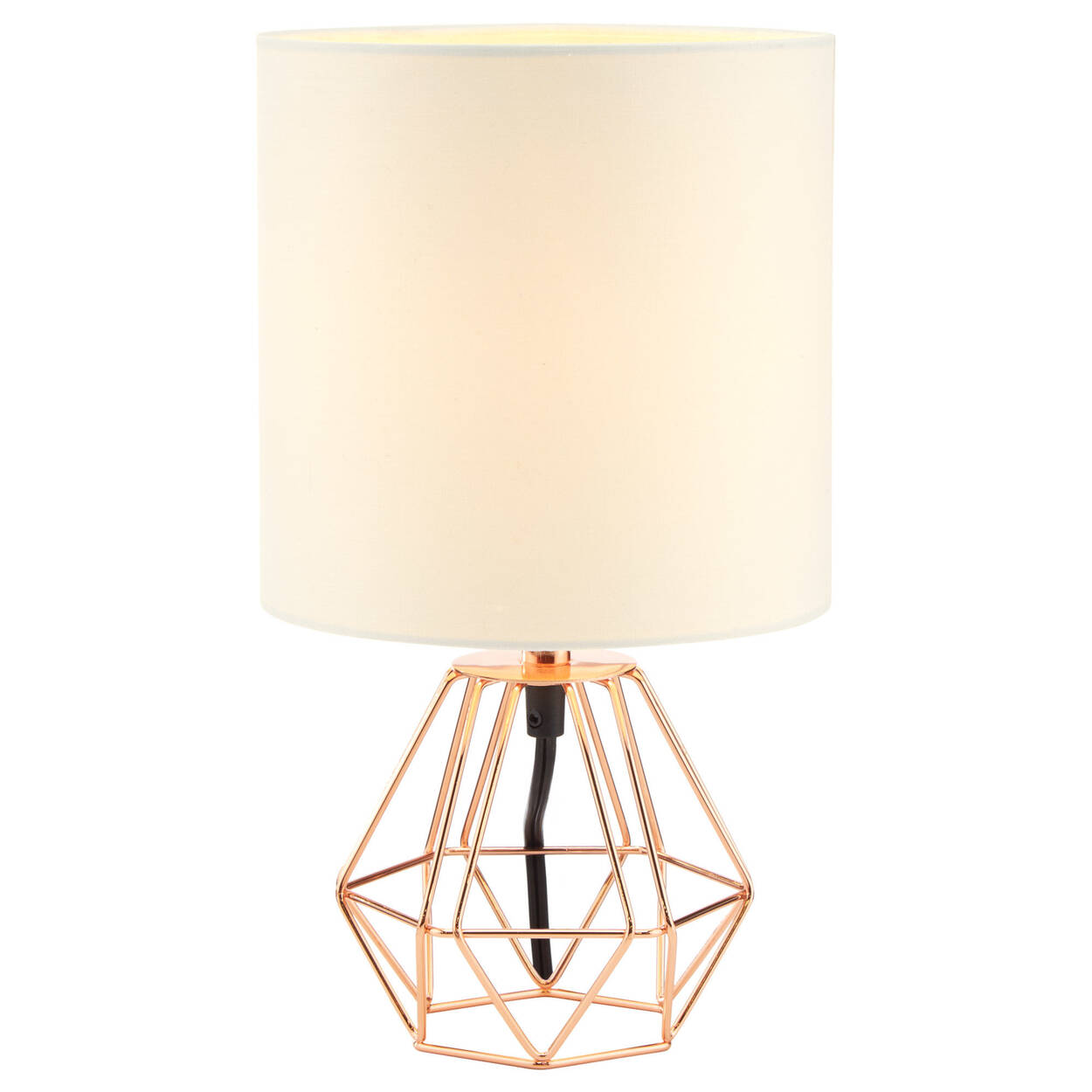Geometric metal wire table lamp bouclair geometric metal wire table lamp mozeypictures Images