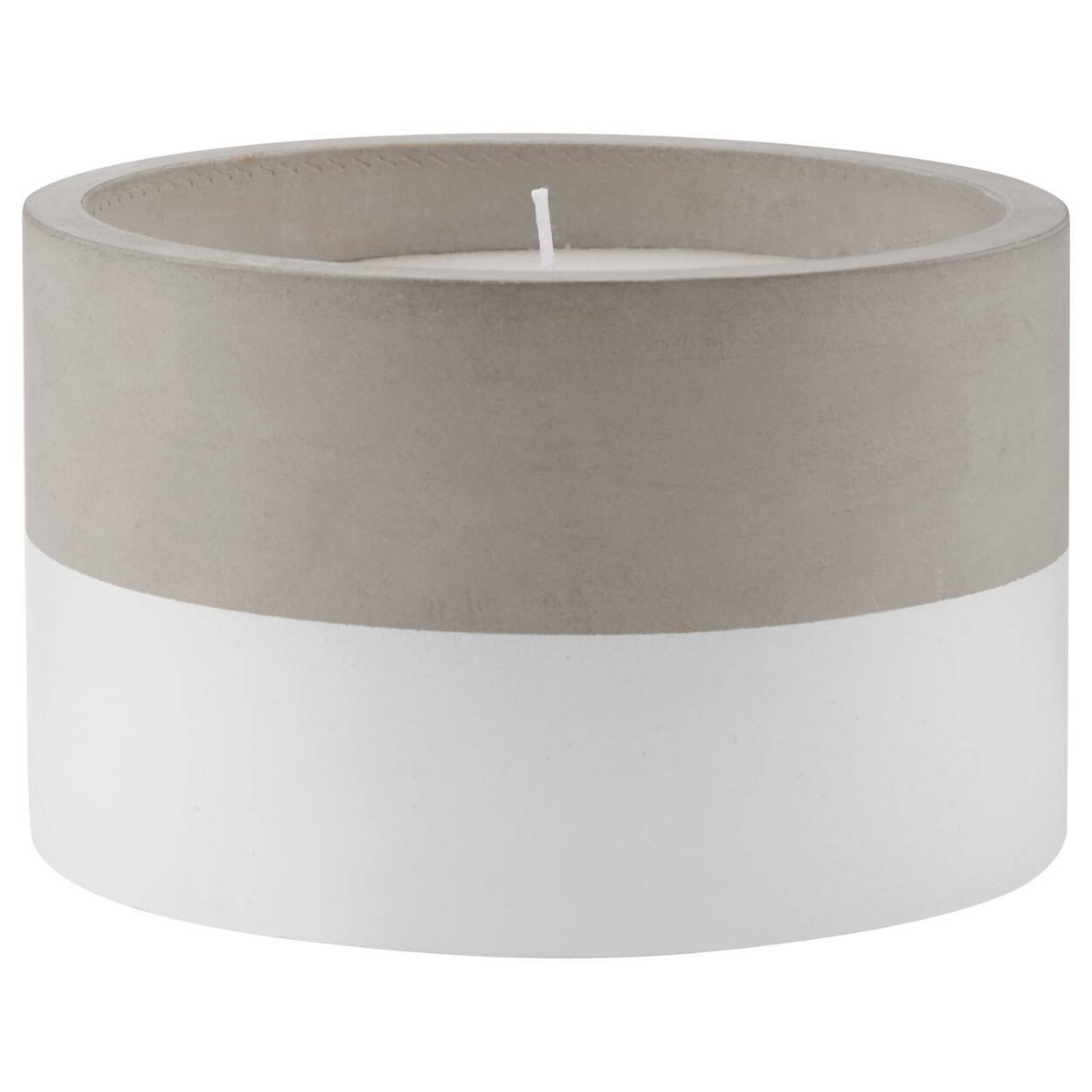 Two-Tone Cement Pot Candle