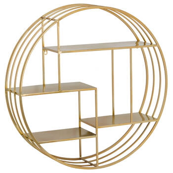 Round Metal Wire Wall Shelf