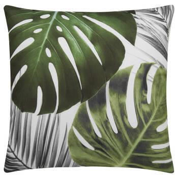 """Coussin décoratif déperlant feuilles de palmier 18"""" X 18"""""""