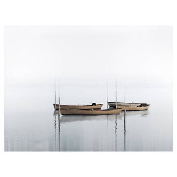 Canoes Printed Canvas
