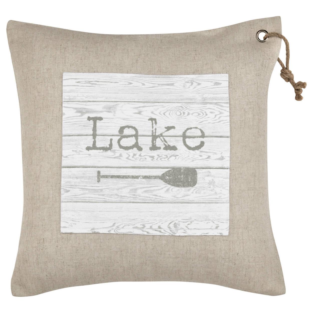 """Lake Decorative Pillow 19"""" X 19"""""""