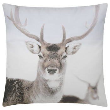 "Deer Printed Decorative Pillow 19"" x 19"""