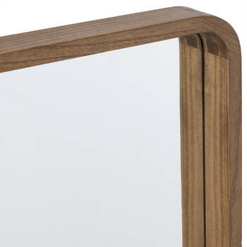 Wood-Framed Mirror
