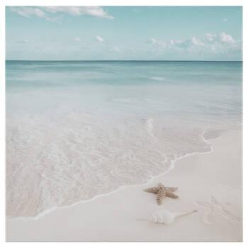 Starfish on Beach Printed Canvas