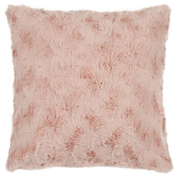 "Isela Faux Fur Decorative Pillow 19"" X 19"""