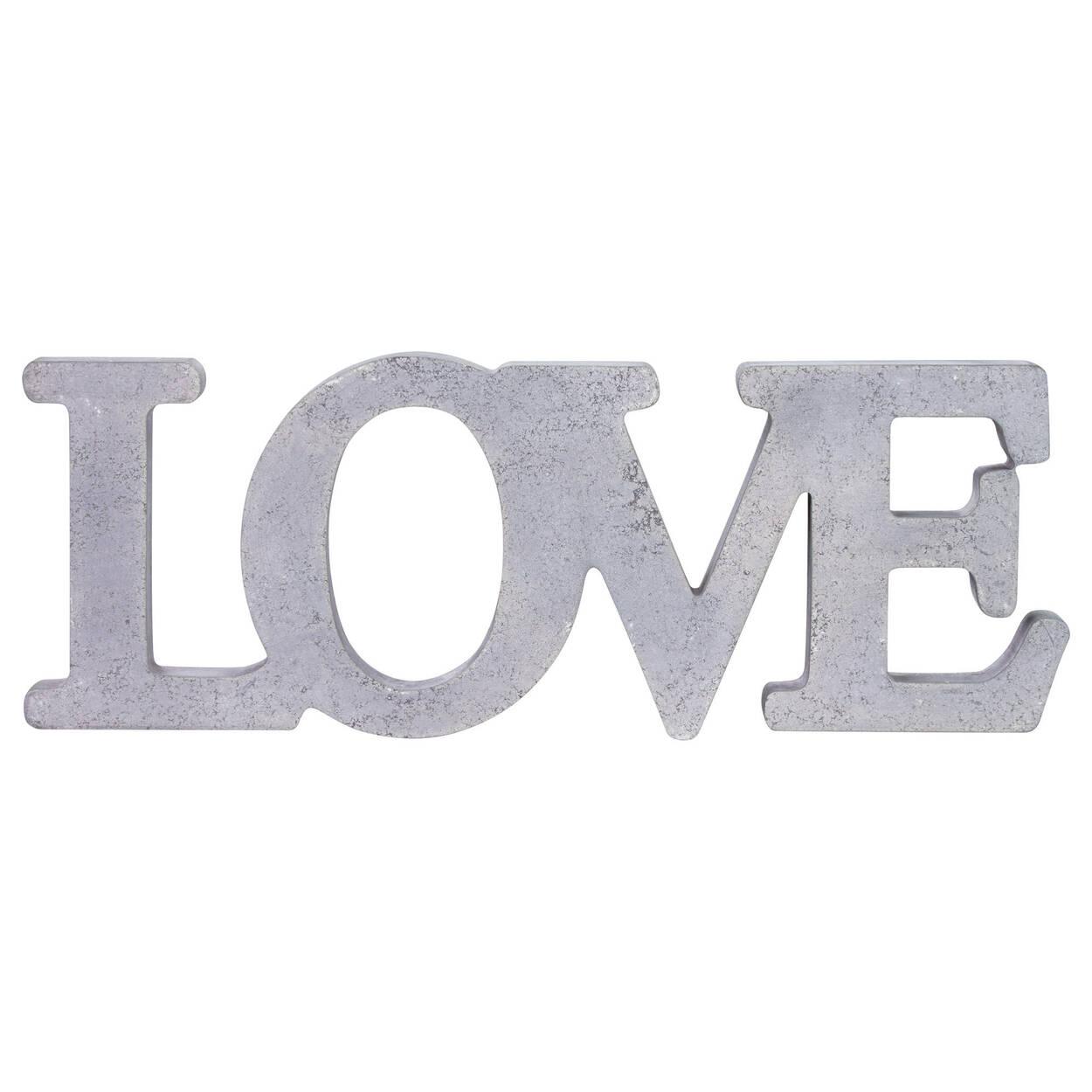 Cement Look Decorative Word - Love