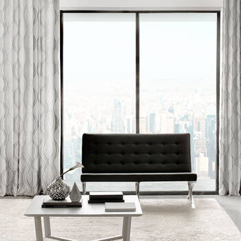 Prato Jacquard Lined Panel Curtain