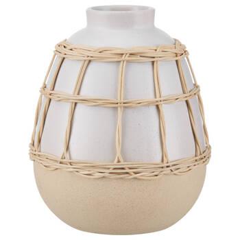 Dolomite Bud Vase with Rattan
