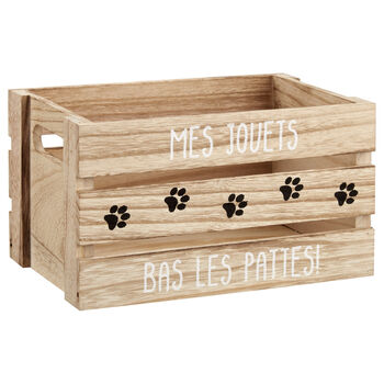 Small My Toys Wooden Crate