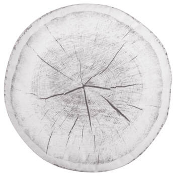 "Wood Log Round Decorative Pillow 15"" X 15"""