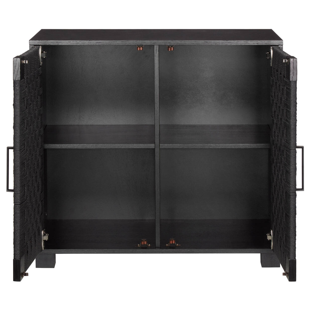 2-Door Woven Black Rope Buffet