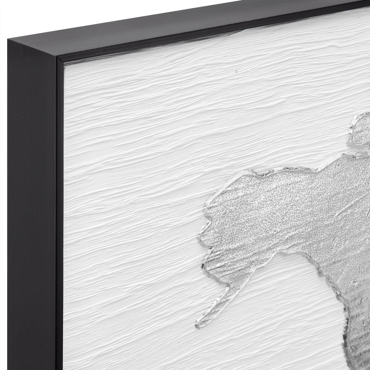 Worl Map Framed Oil Painting
