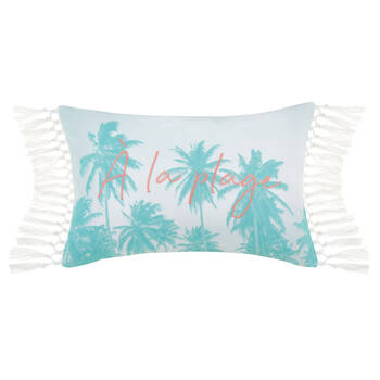 "À la Plage Decorative Lumbar Pillow 13"" x 20"""