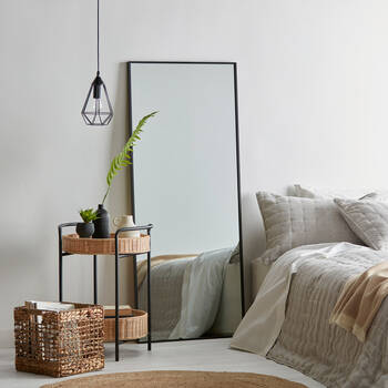 Miroir plein pied avec cadre en aluminium