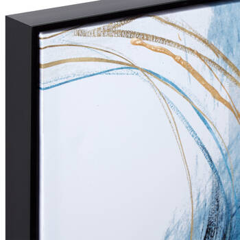 Gel-Embellished Abstract Framed Art