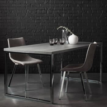 Veneer and Metal Dining Table