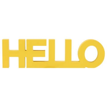 Decorative Word Hello