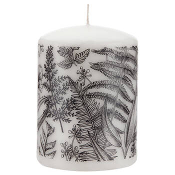 Floral Patterned Pillar Candle