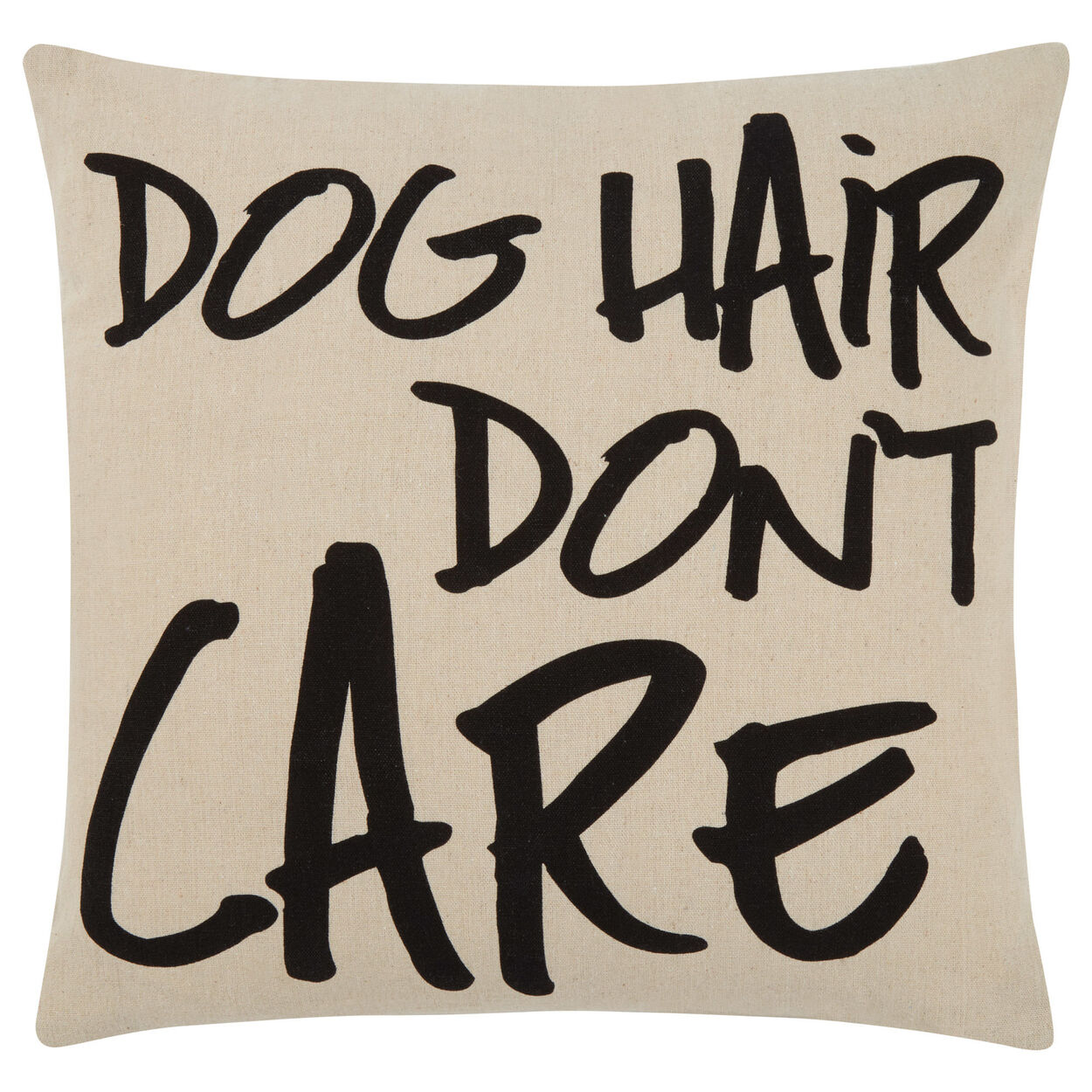 "Don't Care Decorative Pillow Cover 18"" X 18"""