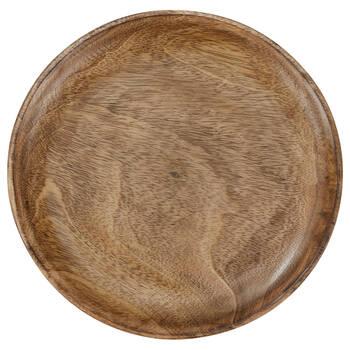 Assiette décorative en bois de manguier