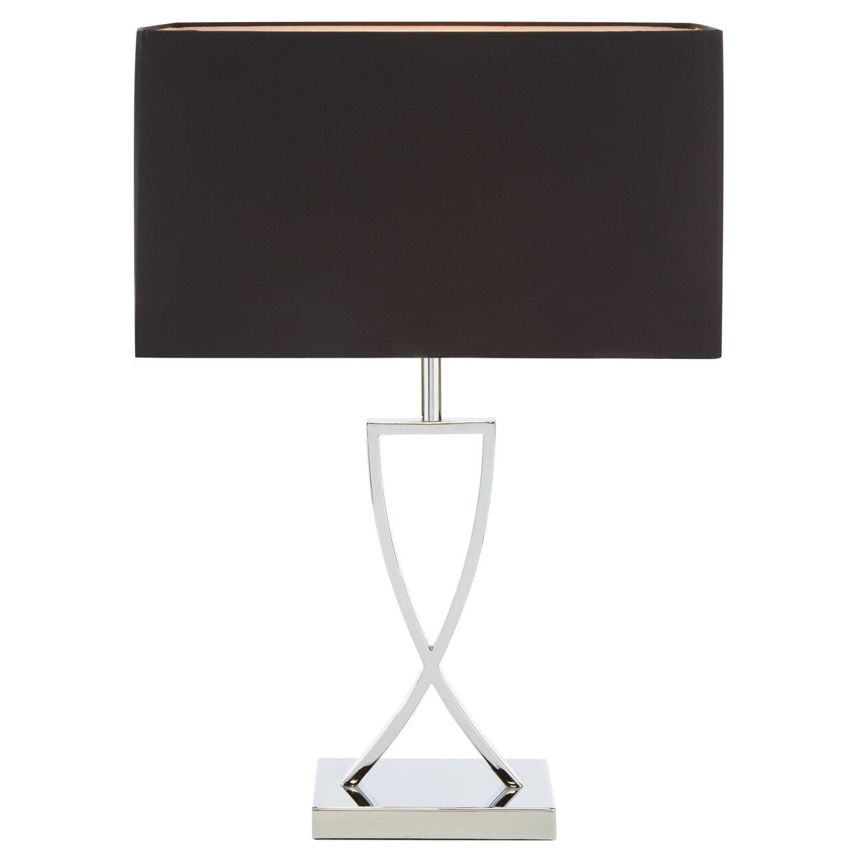 Metal Crossover Table Lamp