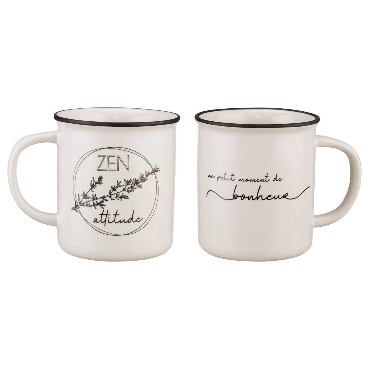 Set of 2 Mugs with Herbs