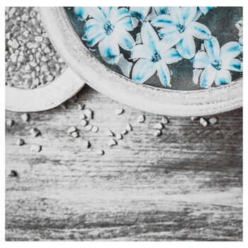 Flowers in Bowl Printed Canvas
