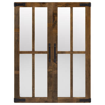 Barn Door Wood Framed Mirror