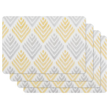 Set of 4 Patterned PVC Placemats