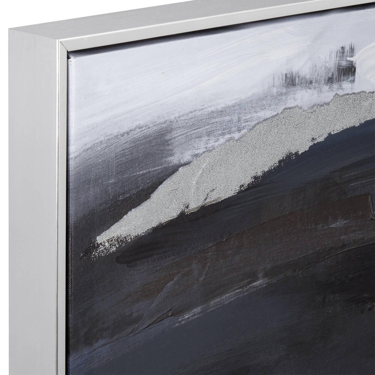 Cadre imprimé abstrait avec embellissements au gel