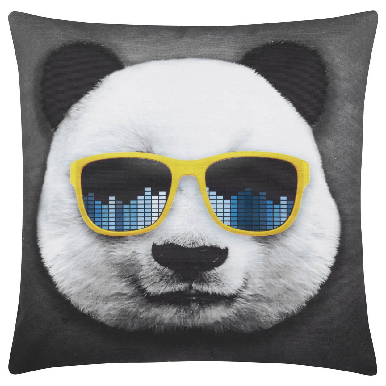 """Coussin décoratif panda 18"""" X 18"""""""