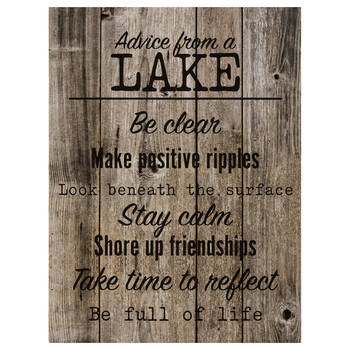 Advice from a Lake Printed Canvas