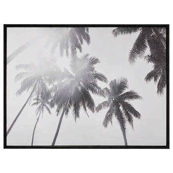 Palm Trees Framed Printed Canvas