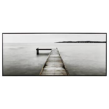Calm Water Dock Printed Framed Art