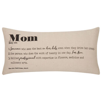 "Mom Decorative Lumbar Pillow 11"" X 21"""