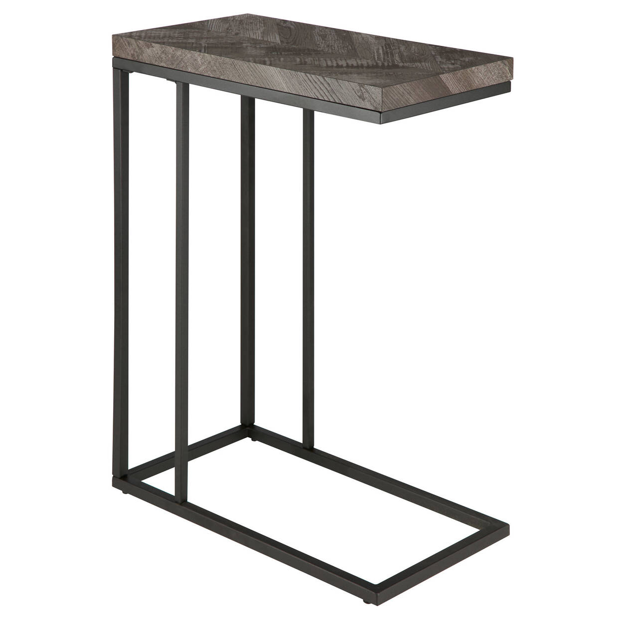 Table d'appoint en chevron et en fer