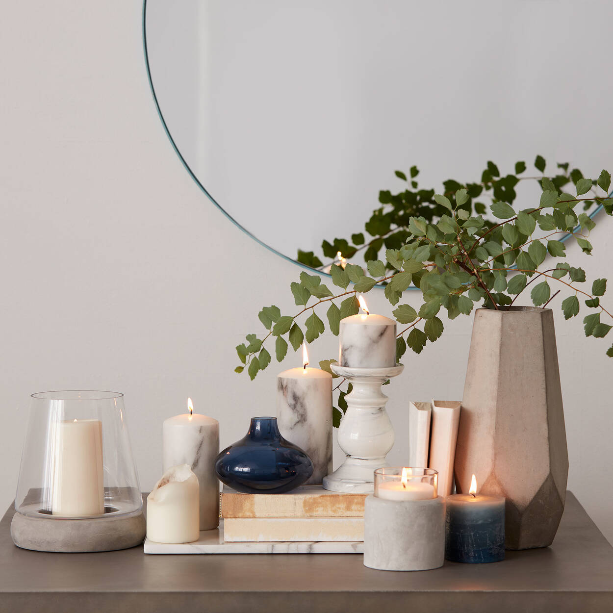 Cement Table Vase