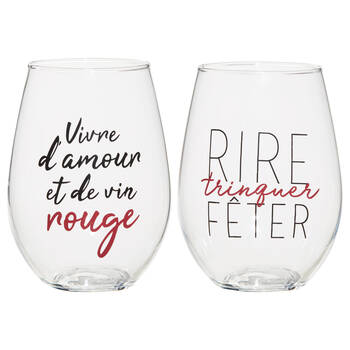 Set of 2 Trinquer Wine Glasses