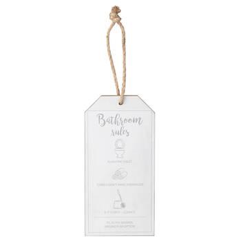 Bathroom Rules Door Hanger