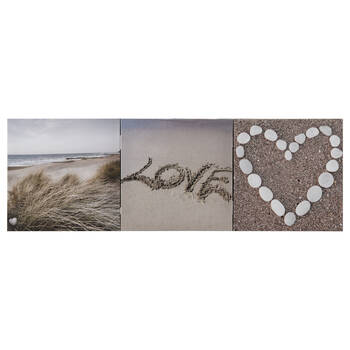 Set of 3 Beach Love Canvases
