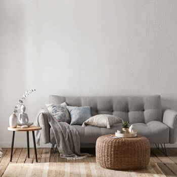 Sofa Bed with Metal Black Legs