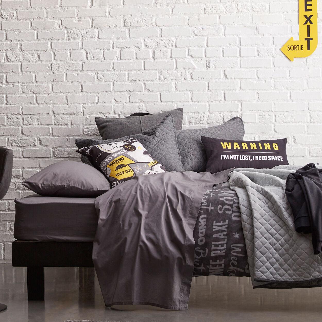 """Warning Decorative Lumbar Pillow 11"""" X 22"""""""