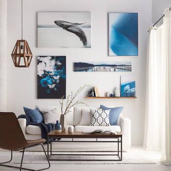 Seagulls Printed Canvas