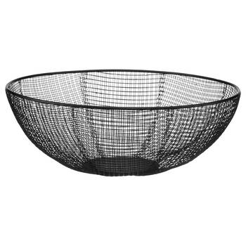 Black Metal Mesh Bowl