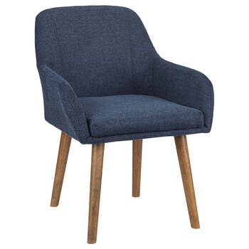 Fabric and Wood Dining Chair
