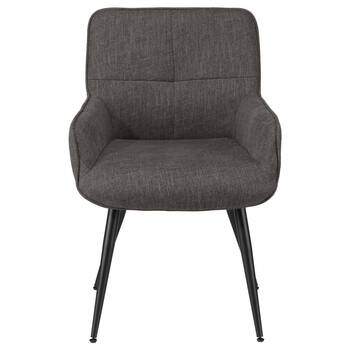 Chita Fabric and Metal Lounge Chair